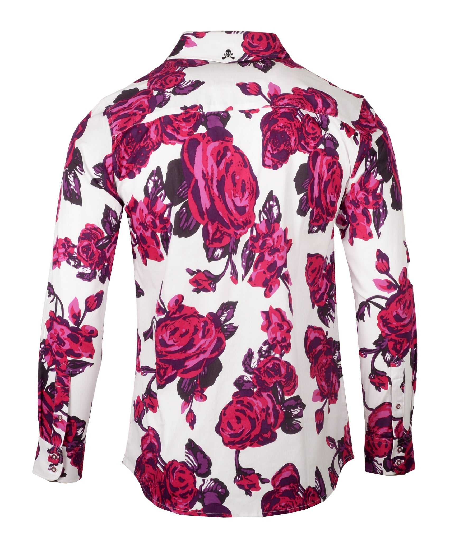Men's Casual Fashion Button Up Shirt - Dead Flowers by Rock Roll n Soul