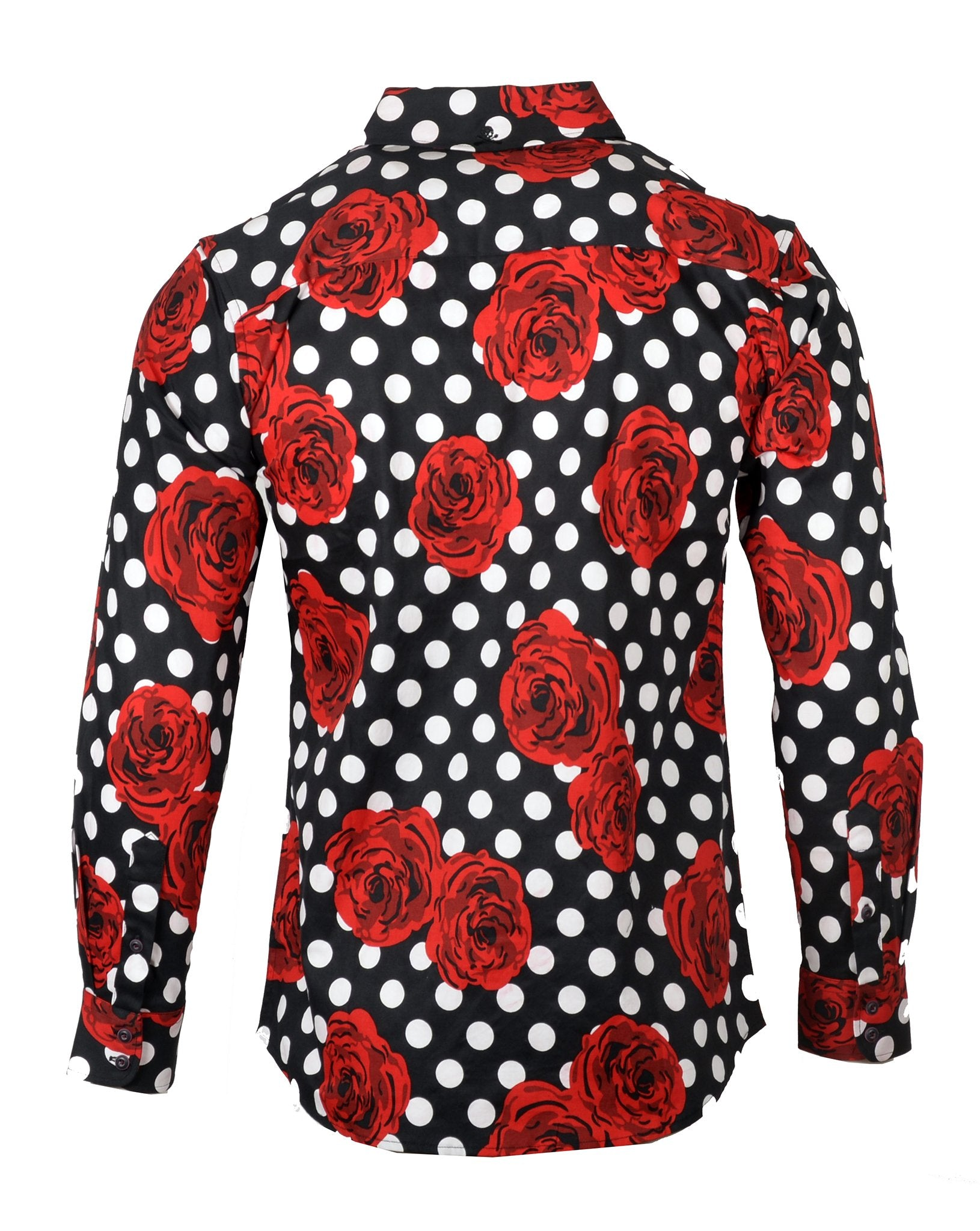 Men's Long Sleeve Casual Floral Fashion Button Up Shirt - Every Rose by Rock Roll n Soul2