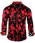 Men's Casual Fashion Button Up Shirt - Black Magic Woman by Rock Roll n Soul