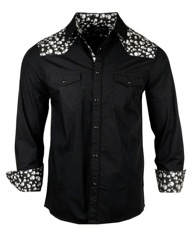 Men's Western Button Up Shirt - Old Town Road by Rock Roll n Soul