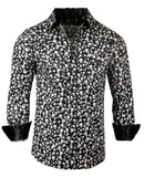 Men's Skull Casual Fashion Button Up Shirt - I'm Your Boogieman by Rock Roll n Soul1