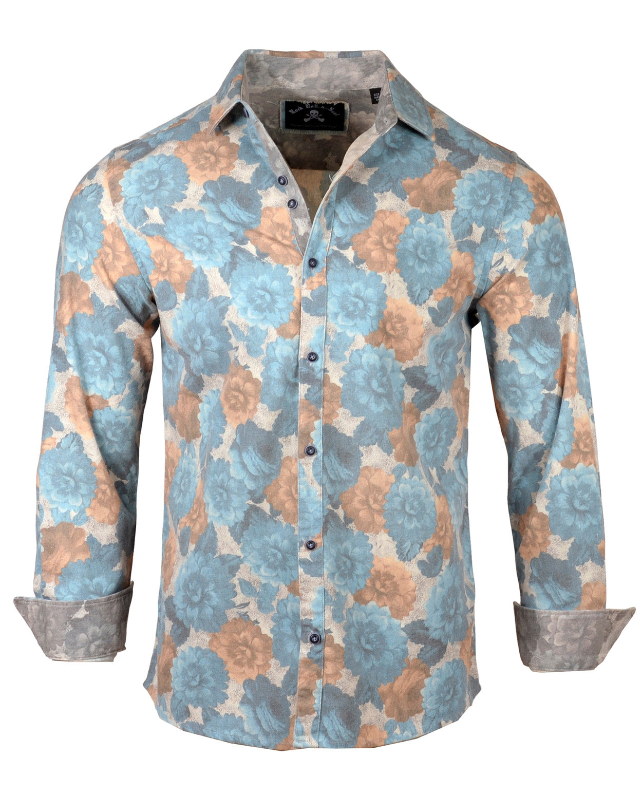 Men's Casual Fashion Button Up Shirt - Two Tickets to Paradise by Rock Roll n Soul