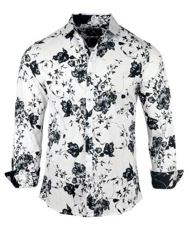 Men's Casual Fashion Button Up Shirt - Ain't Talking Bout Love by Rock Roll n Soul