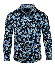 Men's Casual Fashion Button Up Shirt - Mr. Blue Sky by Rock Roll n Soul
