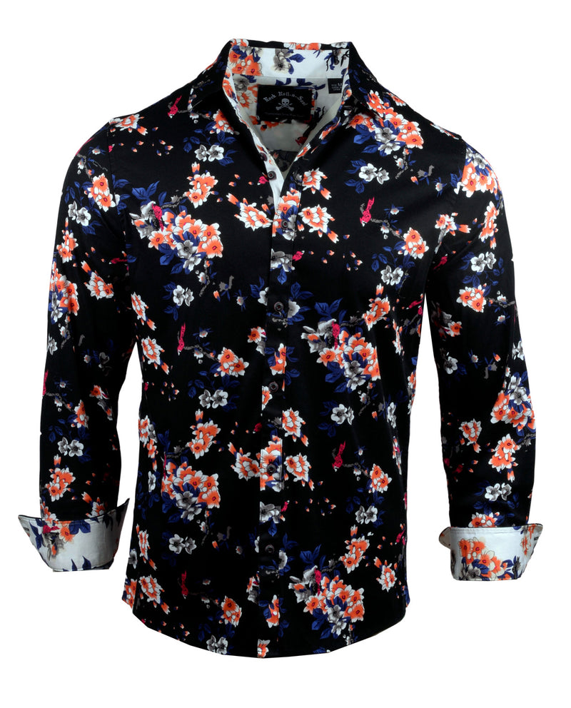 Men's Casual Fashion Button Up Shirt - Sharp Dressed Man by Rock Roll n Soul1