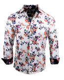 Men's Casual Fashion Button Up Shirt - Sharp Dressed Man in White by Rock Roll n Soul1