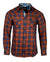 Men's Casual Fashion Button Up Plaid Shirt - OrangeCrush by Rock Roll n Soul