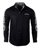 Men's Casual Fashion Button Up Shirt - Live Wire II by Rock Roll n Soul