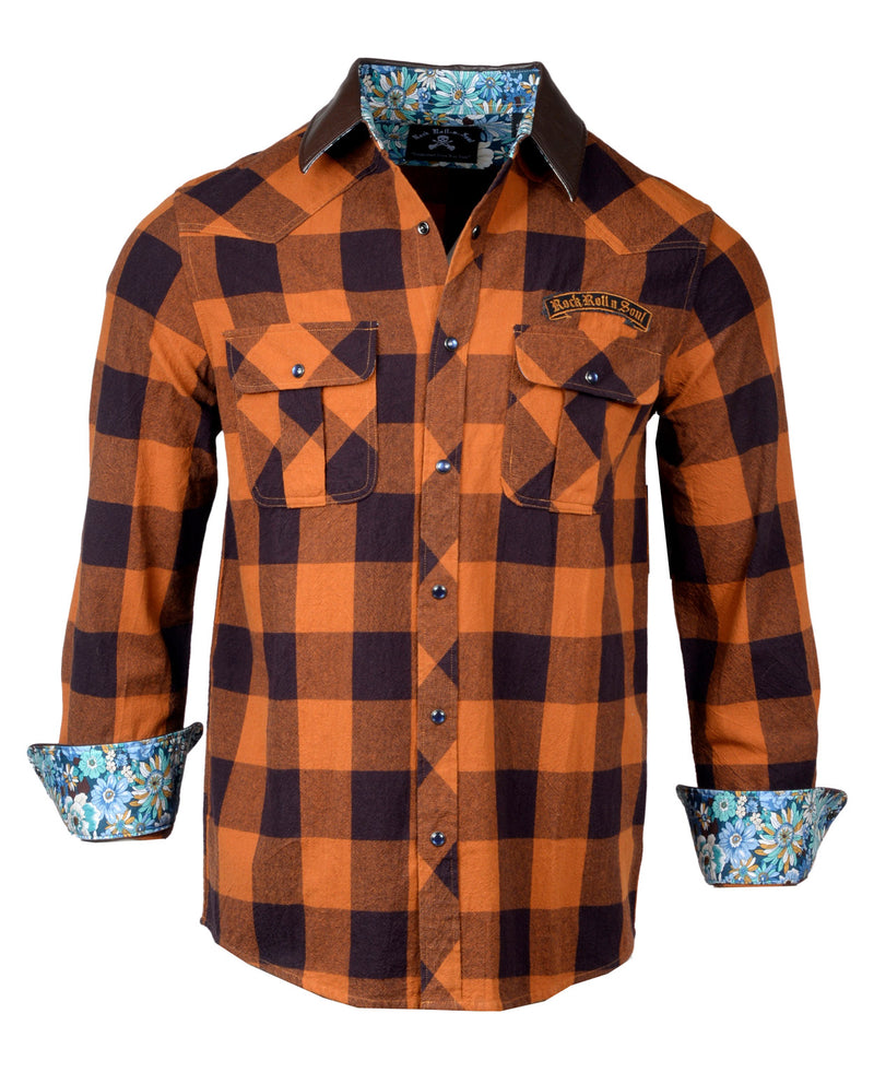 Men's Flannel Fashion Button Up Shirt - Redneck Paradise by Rock Roll n Soul1
