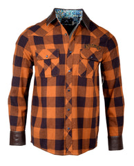 Men's Flannel Fashion Button Up Shirt - Redneck Paradise by Rock Roll n Soul