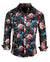 Men's Casual Floral Fashion Button Up Shirt - Lola in Red by Rock Roll n Soul1