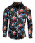 Men's Casual Floral Fashion Button Up Shirt - Lola in Red by Rock Roll n Soul