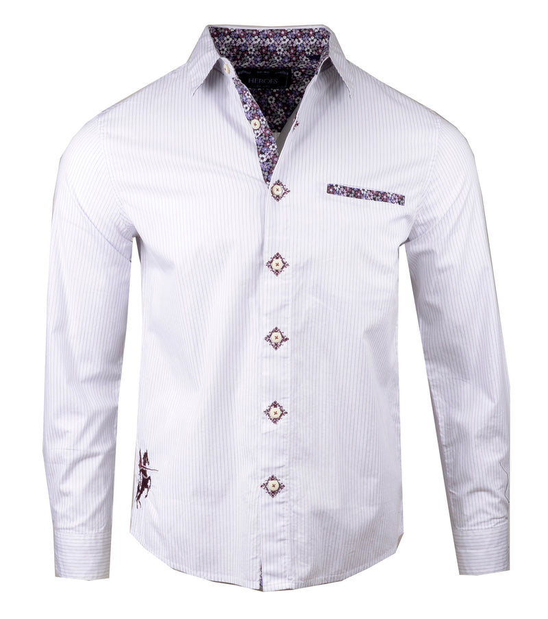 Men's Casual Fashion Button Up Shirt - Satisfaction by Rock Roll n Soul