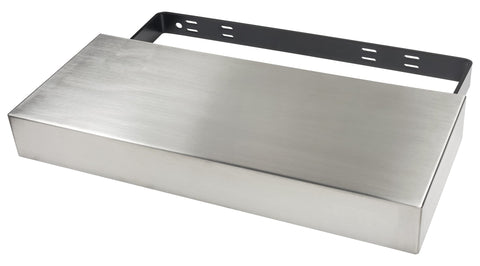 "Designs of Distinction, Floating Shelf, (Stainless Steel), 10"" (254mm) x 24"" (610mm), Bracket Included"