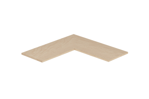"Designs of Distinction, Flat Modern Corner Shelf, 12"" X 30"" X 30"", Unfinished"