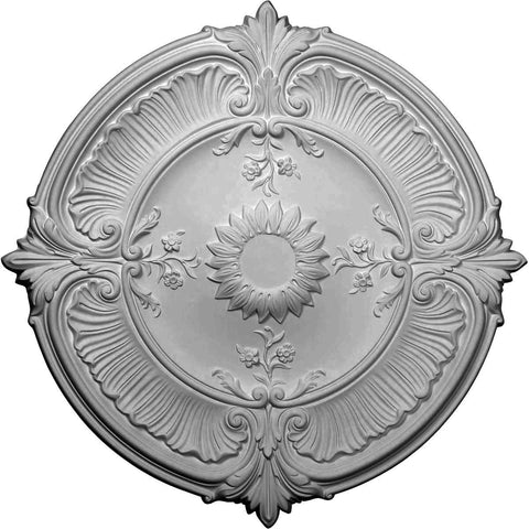 "Acanthus Leaf Ceiling Medallion (Fits Canopies up to 3 1/4""), 30 1/8""OD x 1 1/2""P"