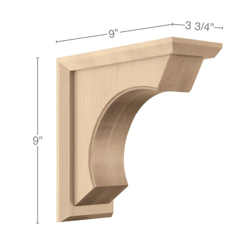 "Medium Revival Corbel, 3 3/4""w x 9""h x 9""d"