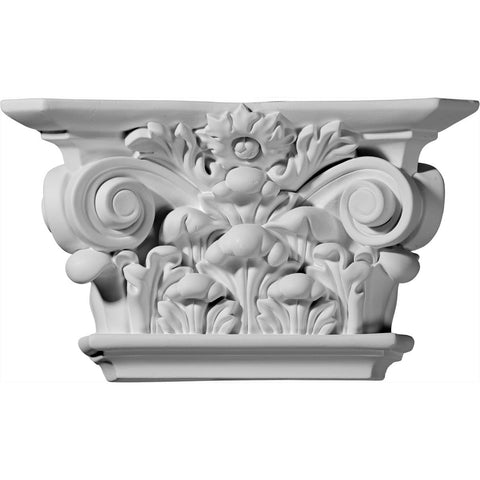 "Acanthus Leaf Capital(Fits Pilasters up to 6 3/4""W x 1""D), 10 1/2""W x 6 1/8""H x 3""D"