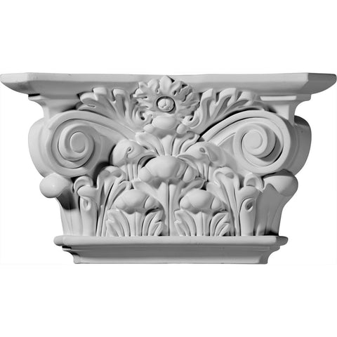 "Acanthus Leaf Capital (Fits Pilasters up to 6 5/8""W x 1 1/8""D), 12 1/4""W x 6 7/8""H x 3 1/2""D"