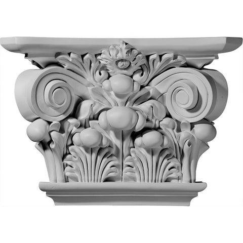 "Acanthus Leaf Capital (Fits Pilasters up to 9 5/8""W x 2""D), 17 1/2""W x 11 7/8""H x 5 1/4""D"