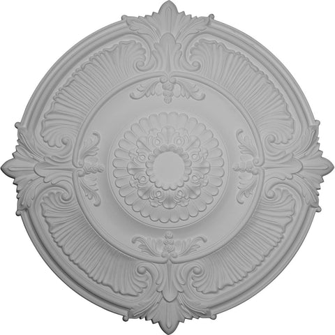 "Acanthus Leaf Ceiling Medallion (Fits Canopies up to 4 5/8""), 53 1/2""OD x 3 1/2""P"