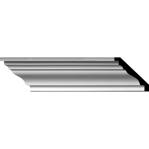 "Classic Smooth Crown Moulding, 4""H x 4 5/8""P x 6 1/8""F x 94 1/2""L"
