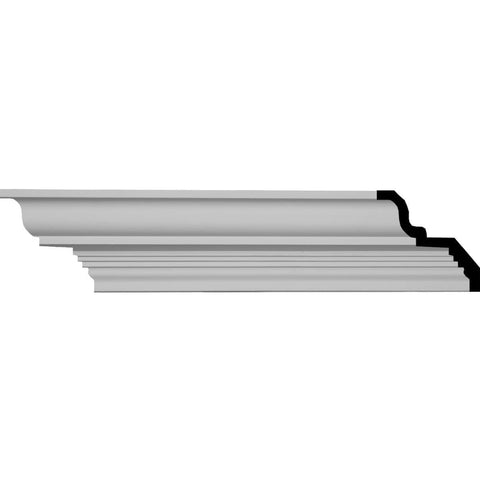 "Bulwark Smooth Crown Moulding, 3 7/8""H x 4 1/2""P x 5 7/8""F x 94 1/2""L"