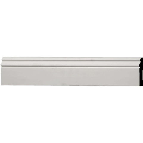 "Baseboard Moulding, 3 3/4""H x 1/2""D x 94 1/2""L, Usually ships in 2-3 days"