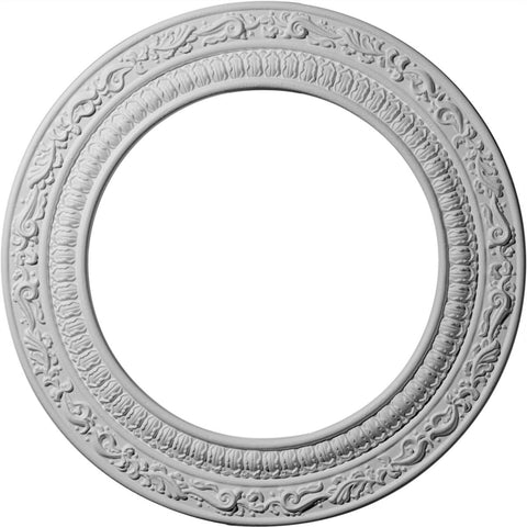 "Ceiling Medallion (Fits Canopies up to 8""), 12""OD x 8""ID x 1/2""P"