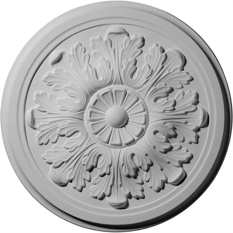 "Acanthus Ceiling Medallion (Fits Canopies up to 3 1/2""), 12 3/4""OD x 7/8""P"