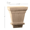 Palladian Toe Kick Bun Foot (Sold 1 per package), 4 1/2'' dia. x 4''h x 2 1/2''