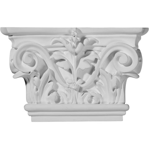 "Acanthus Leaf Capital (Fits Pilasters up to 5 1/4""W x 3/4""D), 8 5/8""W x 5 1/2""H"