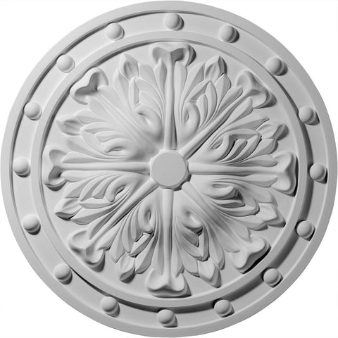 "Acanthus Leaf Ceiling Medallion (Fits Canopies up to 2 1/4""), 20 1/2""OD x 1 1/2""P"
