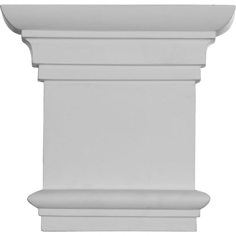 "Traditional Capital (Fits Pilasters up to 5 3/8""W x 3/4""D), 8 1/4""W x 7 7/8""H"