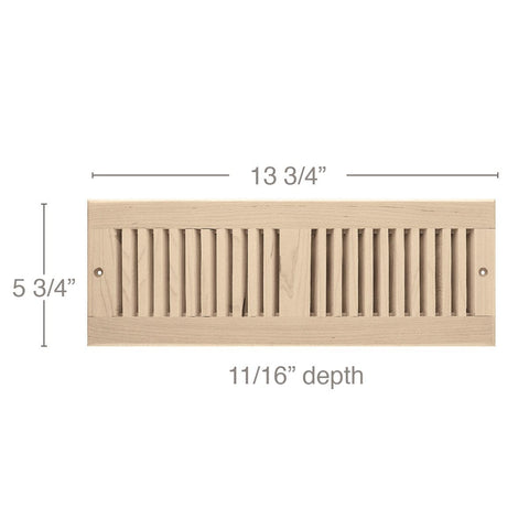 "4 x 14 Vent, 5 3/4"" x 11/16"" x 13 3/4"" length, Self Rimming Toe Kick Vent"
