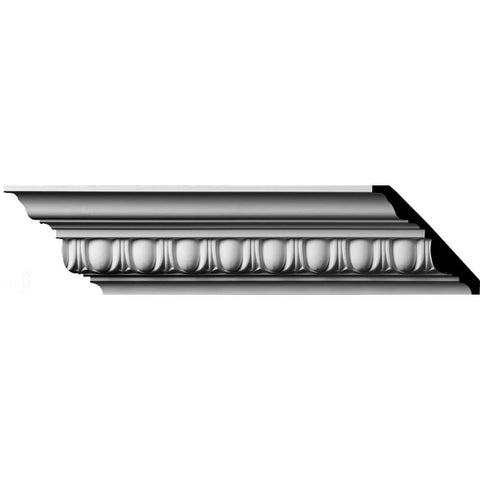 "(1 5/8"" Repeat) Egg & Dart Crown Moulding, 3 3/4""H x 4""P x 5 3/8""F x 94 1/2""L"