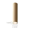 "MDF Radius Corners, L Corner (accepts 5/8"" plywood), 2 13/16""w x 1 5/16""h x 97""L"