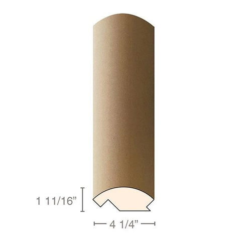 "MDF Radius Corners, J Corner (accepts 3/4"" plywood), 4 1/4""w x 1 11/16""h x 97""L"