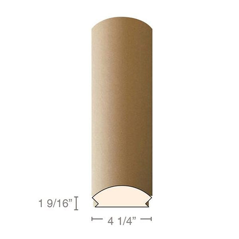 "MDF Radius Corners, L Corner (accepts 5/8"" plywood), 4 1/4""w x 1 9/16""h x 97""L"