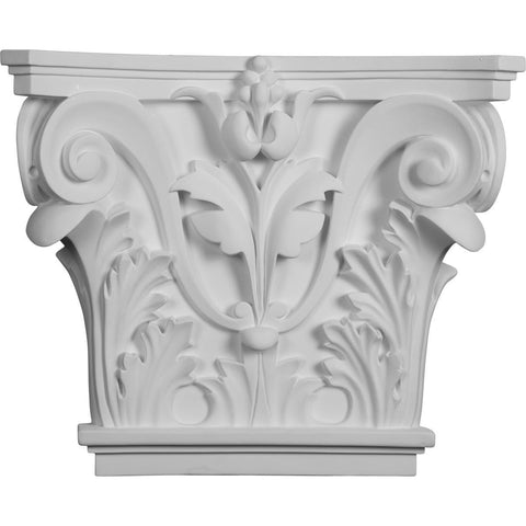 "Acanthus Leaf Pilaster Capital (Fits Pilasters up to 10 3/8 ""W x 3/4""D), 16 1/2""W x 13 5/8""H x 3 3/4""D"