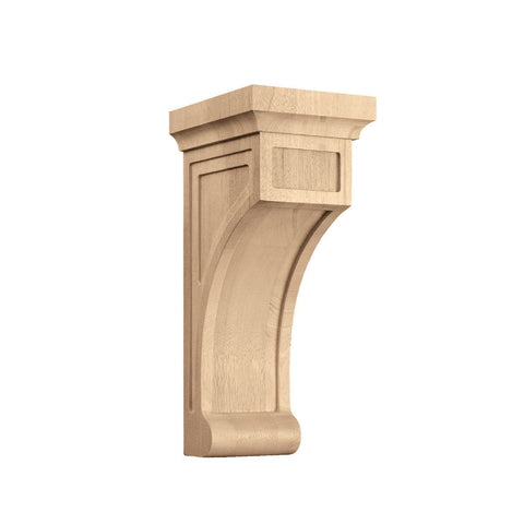 Medium Shaker Corbel, 5 5/16''w x 13 3/8''h x 6 3/4''d, Quarter Sawn Oak