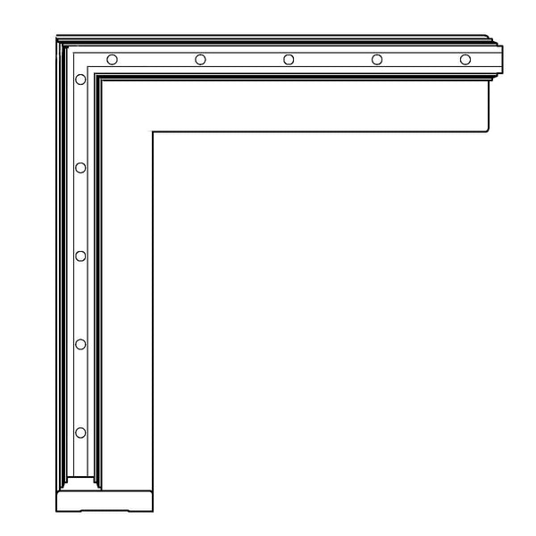 "LCD - CA285, CTY1262, 3 1/2""h x 1 1/4""d"