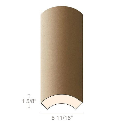 "MDF Radius Corners, 4 Econo Qtr Rnd (accepts 5/8"" plywood), 5 11/16""w x 1 5/8""h x 97""L"