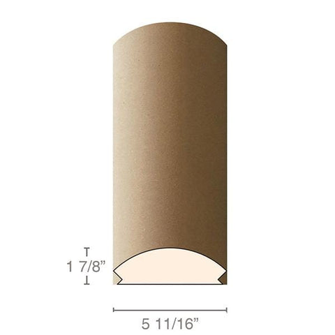 "MDF Radius Corners, L Corner (accepts 5/8"" plywood), 5 11/16""w x 1 7.8""h x 97""L"