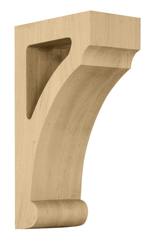 Medium Craftsman Open Corbel, 3 1/2''w x 12''h x 8''d, Quarter Sawn Oak