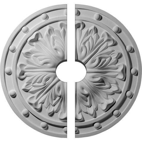 "Acanthus Leaf Ceiling Medallion, Two Piece (Fits Canopies up to 3 1/2"")20 1/2""OD x 3 1/2""ID x 1 1/2""P"