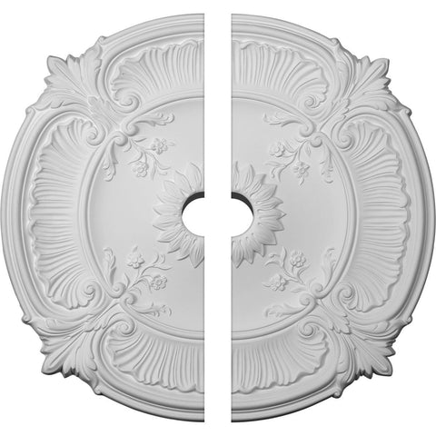 "Acanthus Leaf Ceiling Medallion, Two Piece (Fits Canopies up to 3 1/4"")30 1/8""OD x 3""ID x 1 1/2""P"