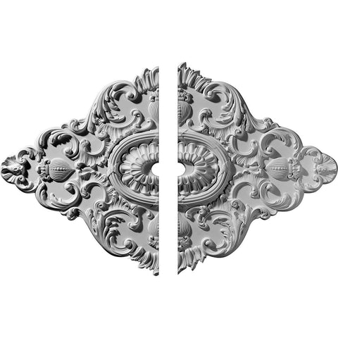 "Ceiling Medallion, Two Piece (Fits Canopies up to 3"")42 3/4""W x 28 7/8""H x 3""ID x 1""P"