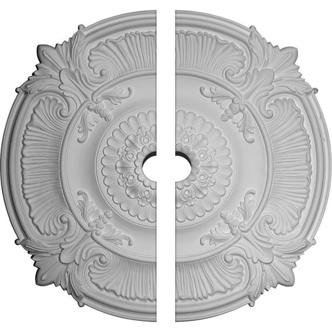 "Acanthus Leaf Ceiling Medallion, Two Piece (Fits Canopies up to 5"")53 1/2""OD x 5""ID x 3 1/2""P"