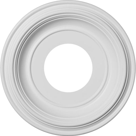 "Thermoformed PVC Ceiling Medallion (Fits Canopies up to 5 1/2""), 10""OD x 3 1/2""ID x 1 1/8""P"